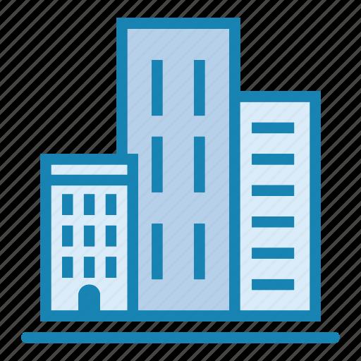 architecture, big city, building, city, house, office, skyscraper icon