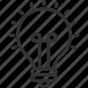 art, bulb, creative, design, graphic, idea, illustration icon