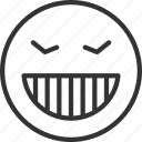 avatar, emoji, emoticon, expression, face, grimacing icon