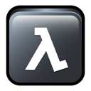 classic, death, half, lambda, life, match icon