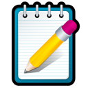 notepad, paper, write icon