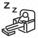asleep, bedtime, nap, night, sleep, sleeping, sleepover icon