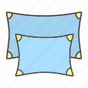 accessory, bed, comfort, cushion, pillow, rest, sleep icon
