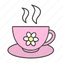 camomile, chamomile, cup, drink, herbal, sleep, tea icon