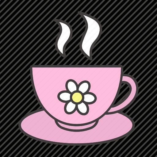 camomile, chamomile, cup, drink, herbal, sleep, tea icon