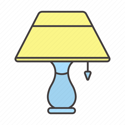 decor, furniture, lamp, light, night, reading-lamp, table-lamp icon