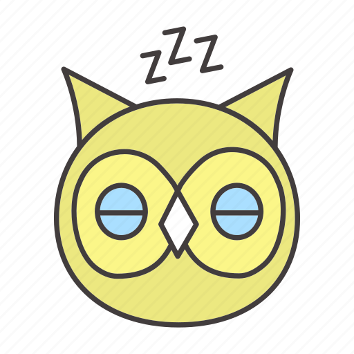 bedtime, bird, chronotype, eveningness, nighttime, owl, sleep icon