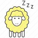 bedtime, dream, insomnia, night, sheep, sleep, zzz icon