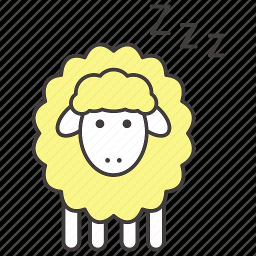 bedtime, dream, insomnia, night, sheep, sleep, zzz icon
