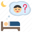 anxiety, concern, sleepless, think, worry icon