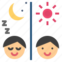 custom, habit, pattern, routine, sleep icon