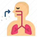breathe, inhale, lung, respiratory, snuff icon