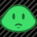 emoticon, sad, slime icon
