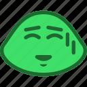 emoticon, shy, slime icon