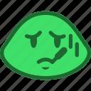emoticon, sick, slime