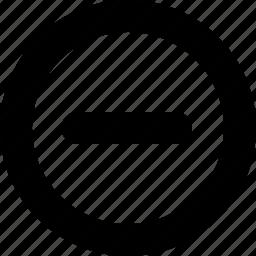 close, interface, minus, remove icon