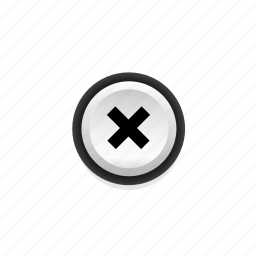 buttons, close, not, pressed, round, with, x icon