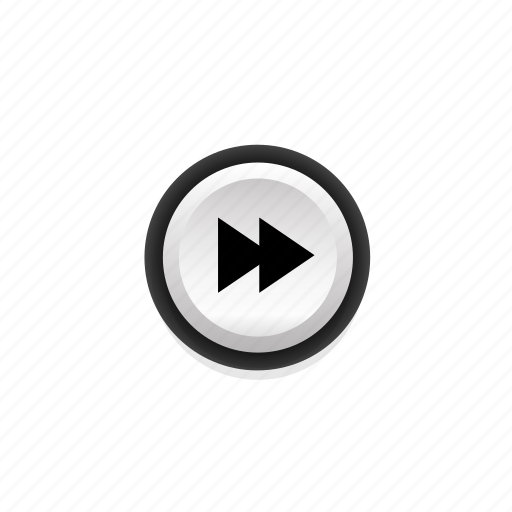 buttons, fast, forward, front, not, pressed, with icon