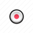 active, buttons, color, dot, navigation, red, ui icon