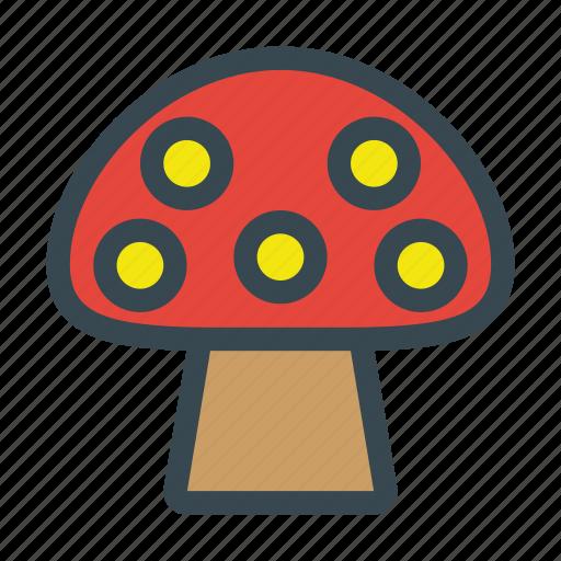 champignon, fungi, fungus, mushroom, organic, vegetable, vegetarian icon