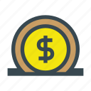 bank, currency, deposit, finance, financial, money, save, savings icon