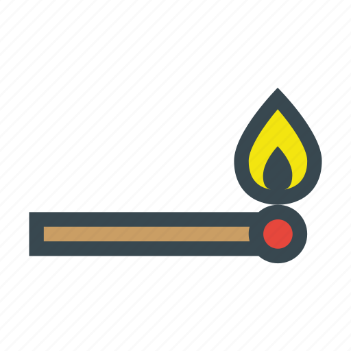 fire, flame, flammable, match, matchstick, stick, wood icon