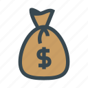 bag, bank, currency, investment, money, rich, sack icon