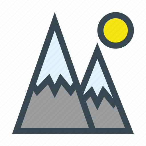 landscape, mountain, nature, outdoor, sky icon