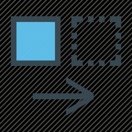 align, alignment, move, right, side icon