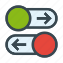horizontal, interface, navigation, slider, sliders, ui, website icon