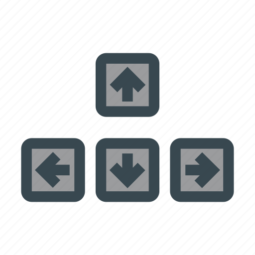 arrow, arrows, keyboard, keys, move icon