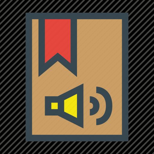 audio, audiobook, book, dictionary, school, study icon