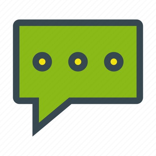 bubble, chat, message, talk, text, waiting, writing icon