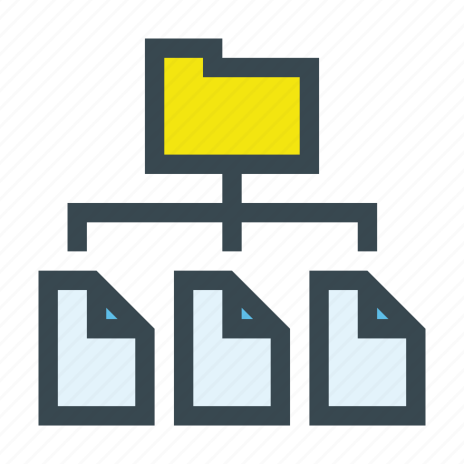 archives, directory, documents, files, folder, paper icon