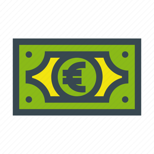 bill, currency, euro, finance, money icon