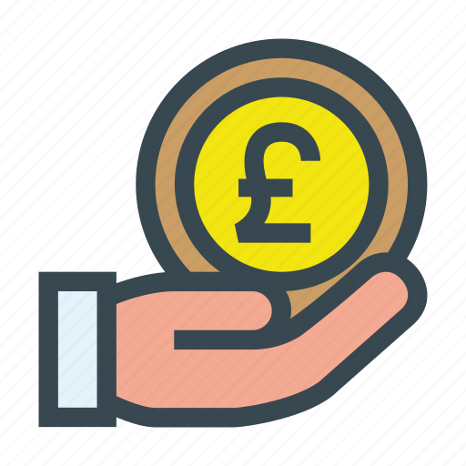 aid, charity, coin, contribution, donate, donation, pound icon