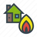 burn, fire, home, house, insurance, property