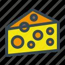 cheese, food, gourmet, hole, mozzarella