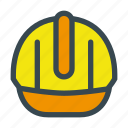 construction, helmet, safety, security icon