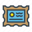 mail, paper, post, send, stamp icon