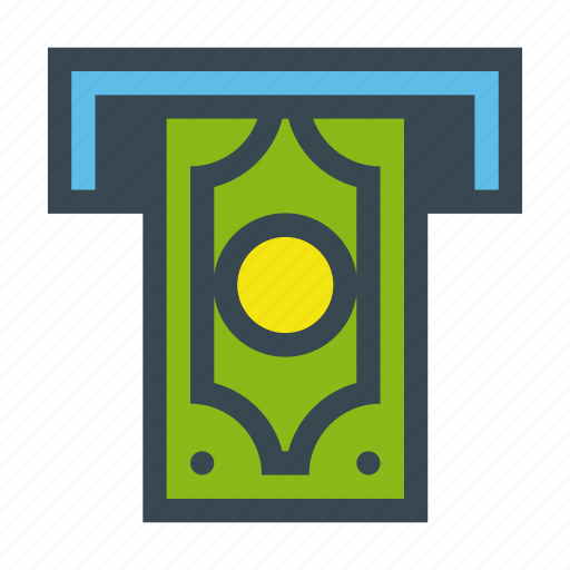 bank, cash, cashout, currency, payment, teller icon