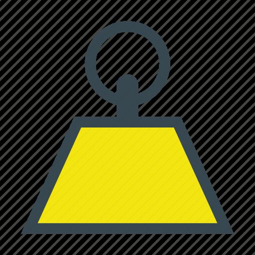 kettlebell, kg, kilogram, mass, weight icon