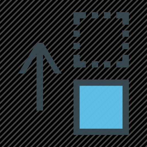 arrow, drag, move, top, up icon