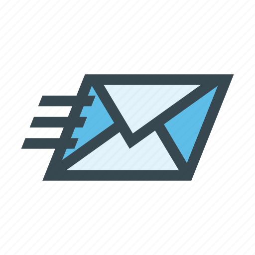 correspondence, delivery, email, envelope, fast, letter, post icon