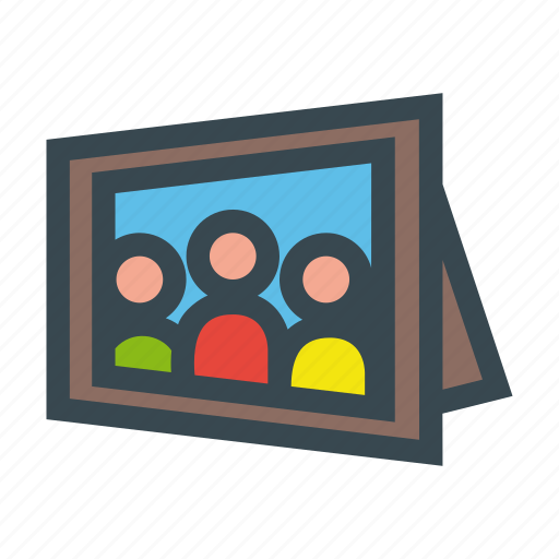 child, family, father, frame, kids, mother, photo, portrait icon