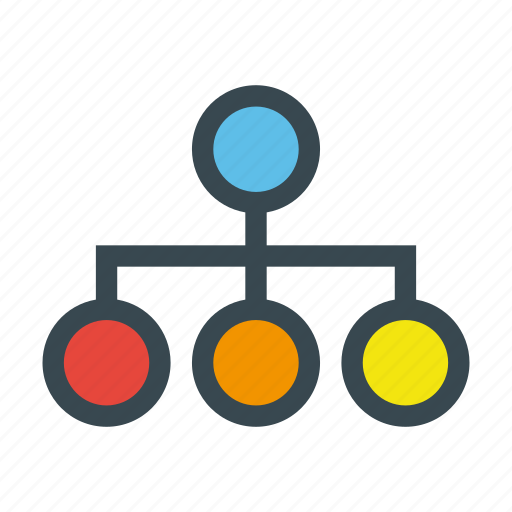 circles, hierarchical, hierarchy, network, structure icon