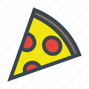 cheese, delicious, dinner, food, italian, meal, pizza, salami, slice icon