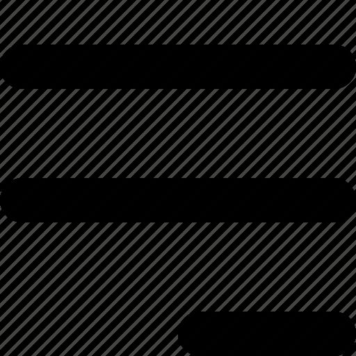 align, edit, right, text icon
