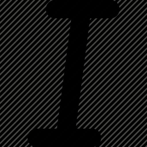 edit, italic, text icon