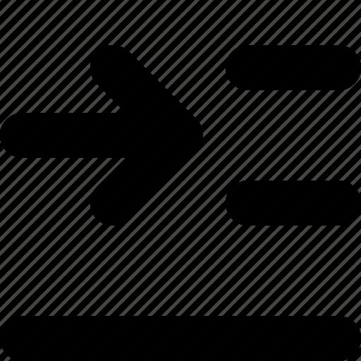 edit, ident, left, text icon